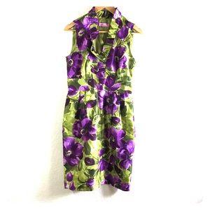Eliza J sleeveless floral print dress size 8